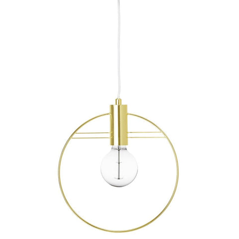 Metal Pendant Lamp, Gold Finish
