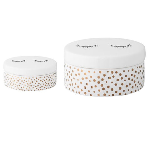 Smilla Ceramic Boxes, Set of 2