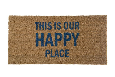 This is Our Happy Place Coir Door Mat