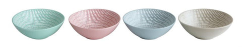 Stoneware Textured Bowl, 4 Colors