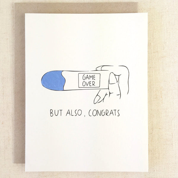 Chalkscribe - Game Over Pregnancy Card