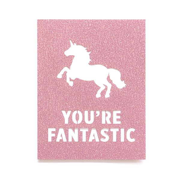 Alexis Mattox Design - Fantastic Unicorn Paper Card