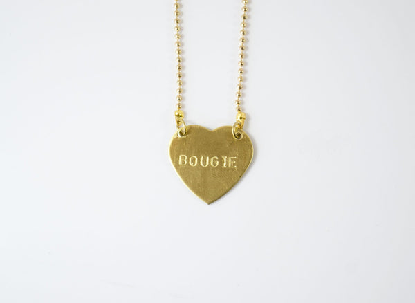 Grey Theory Mill - Savage Necklaces (Custom Stamped Necklace) Heart