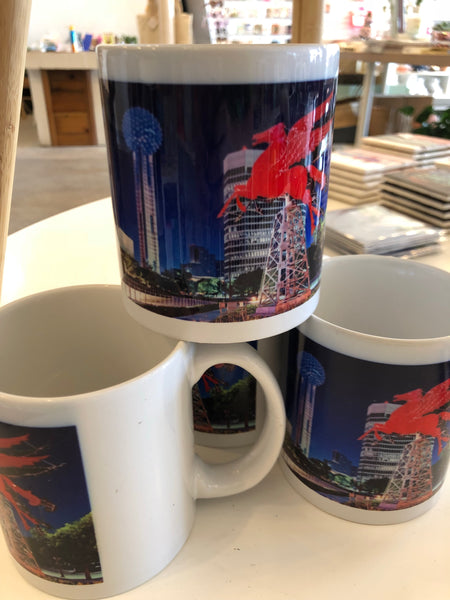 Flying over Dallas Coffee Mug