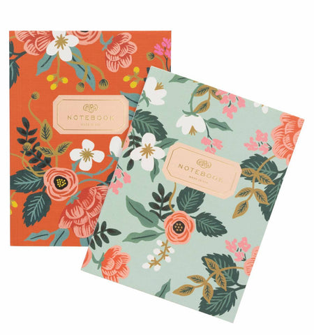 2 Birch Pocket Notebooks floral
