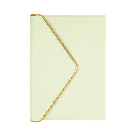 Envelope Gold Zipper Journal Pistachio
