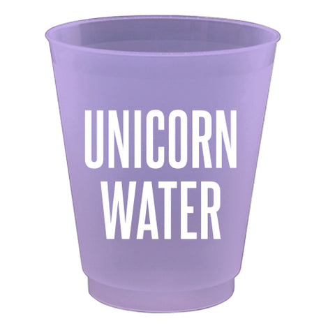 16OZ Unicorn Water Frost Flex Cups
