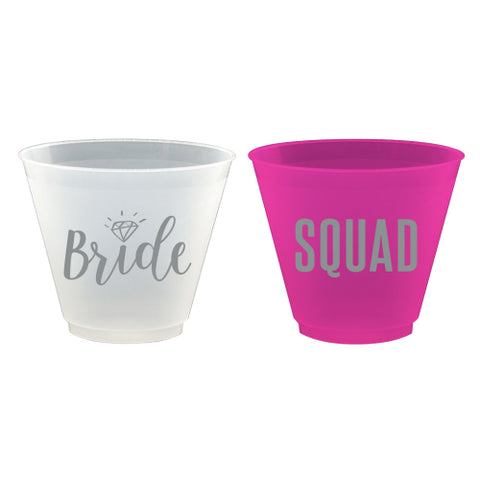 WEDDING FROST FLEX CUP -z Frost Flex Wine Cup- Bride / Squad