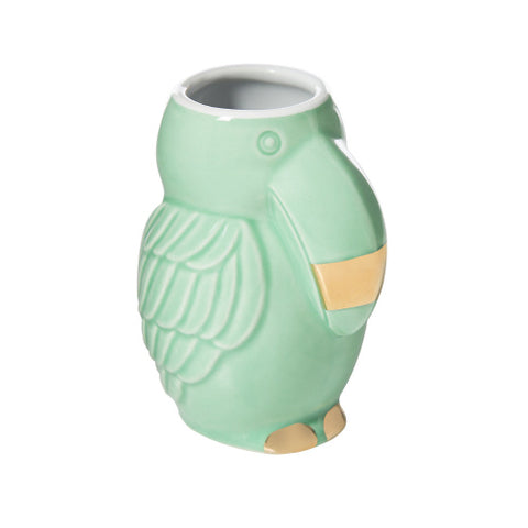 2OZ SHOT GLASS GREEN TOUCAN