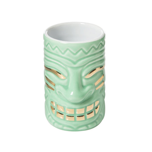 2OZ SHOT GLASS MUG AQUA TIKI