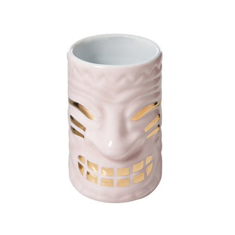2OZ SHOT GLASS MUG PINK TIKI