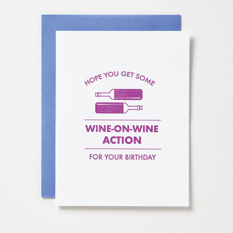 WINE ON WINE BIRTHDAY CARD