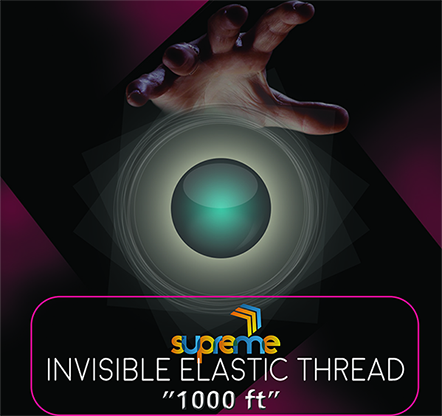 Invisible Elastic (1000 ft Spool) by Supreme Magic