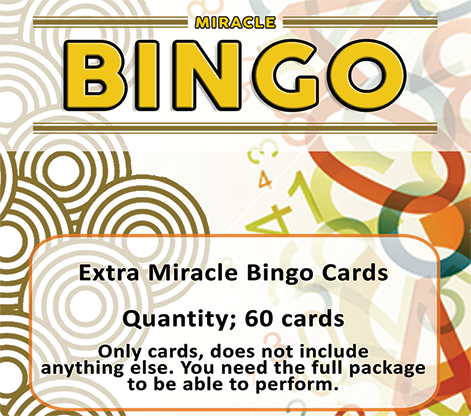 Extra Cards (60 Cards) for Miracle Bingo by Doruk Ulgen