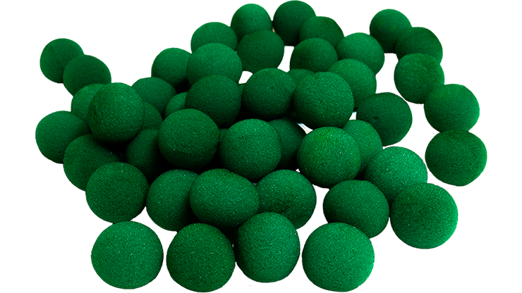 "1"" Super Soft Sponge Ball (Green) Bag of 50 from Magic By Gosh"