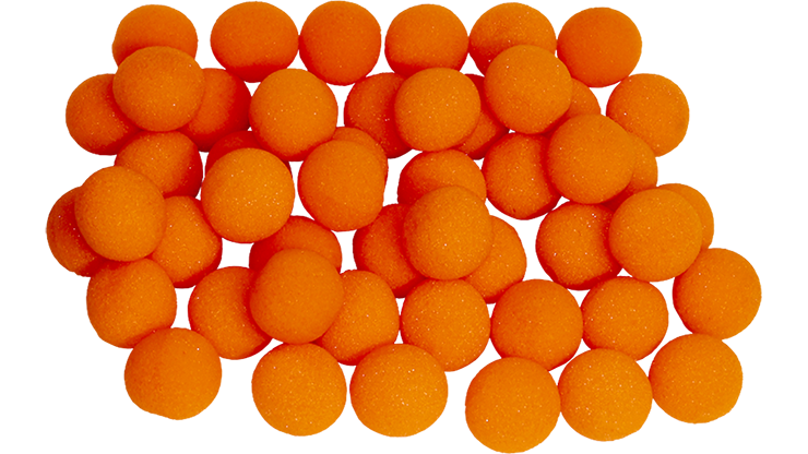 "1"" Super Soft Sponge Ball (Orange) Bag of 50 from Magic By Gosh"