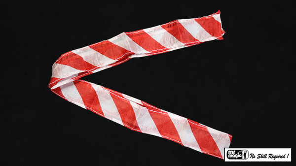 Thumb Tip Streamer Zebra 3' (Red and White) by Mr. Magic