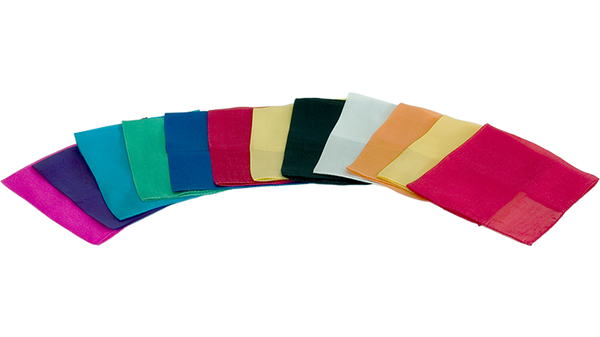Silks 15 inch 12 Pack (Assorted) Magic by Gosh