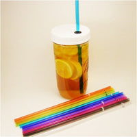 Mason Jar Travel Cup with Lid and Straw