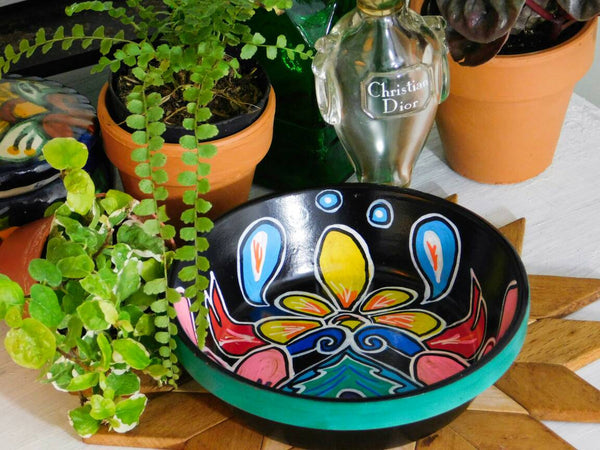 Bohemian Nature Mexican Inspired Flower Coaster Dish for Jewelry Home Organization Ring Catch