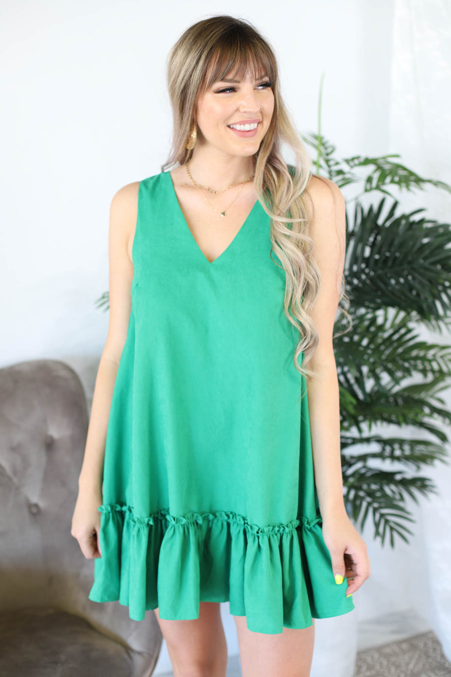 Kelly Dress: Green - ShopSpoiled