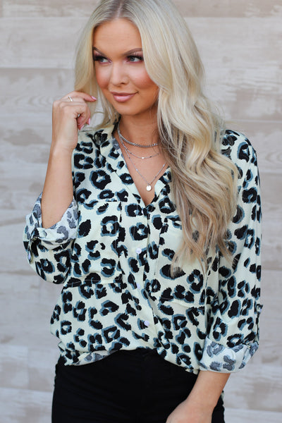 Dare I Say Leopard Print Top: Cream/Black - ShopSpoiled