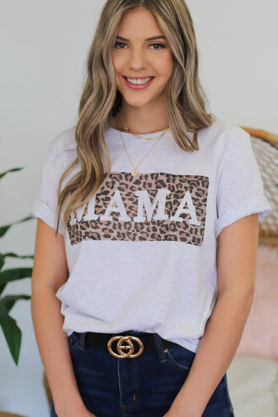 Leopard Mama Graphic Tee - ShopSpoiled