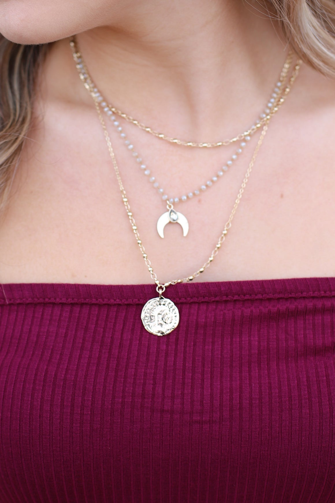 Put A Spell On You Necklace: Gold - ShopSpoiled
