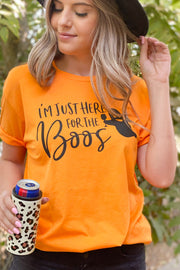 Here For The Boos Tee: Orange - ShopSpoiled