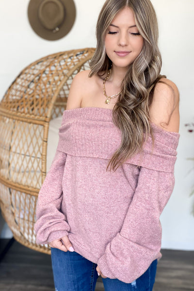 Take the Chill Off Sweater: Pink - ShopSpoiled