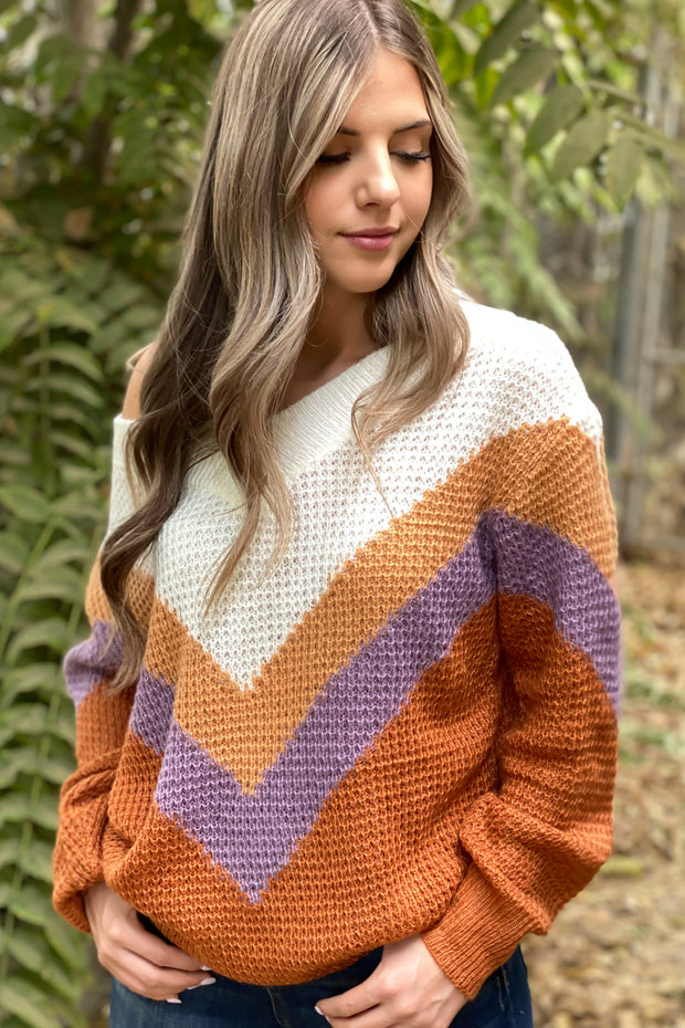 Autumn Daze Sweater: Clay - Shop Spoiled Boutique