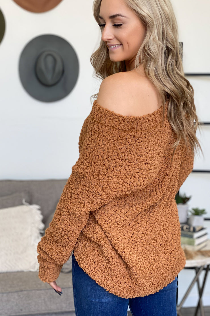 October Stroll Sweater: Camel - ShopSpoiled