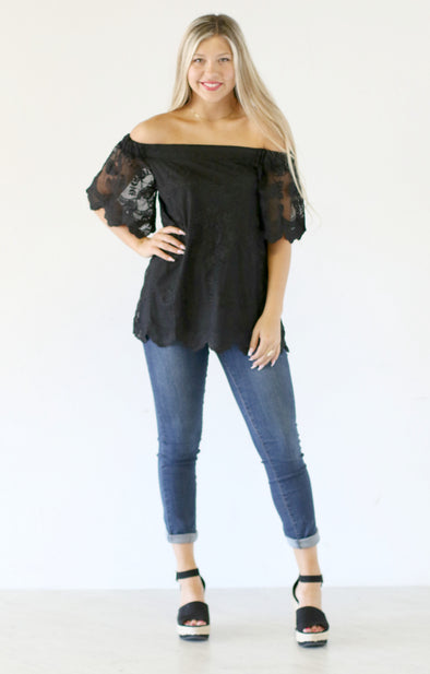 Laced Perfection Top - ShopSpoiled