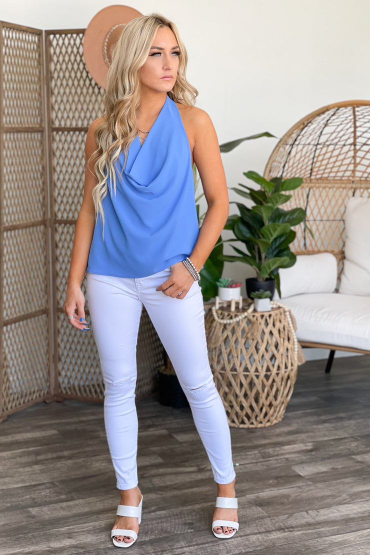 Vegas Nights Top: Blue - ShopSpoiled