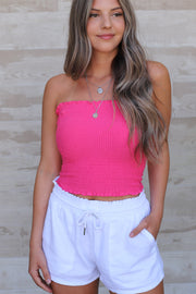 Summer Fun Tube Top: Hot Pink - ShopSpoiled