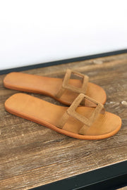 Tessa Sandals: Tan - ShopSpoiled