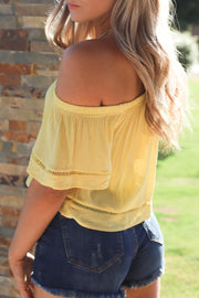 Let's sail top: yellow - ShopSpoiled