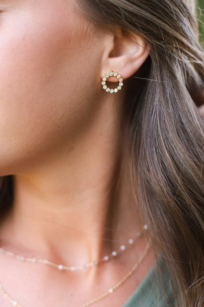 Daisy Earrings: Gold - ShopSpoiled