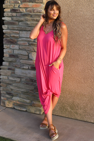 Wild Honey Maxi Dress: Fuchsia - ShopSpoiled