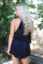 RSVP For Me Romper: Black - ShopSpoiled