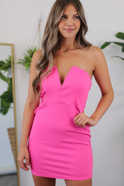 Vegas Nights Bodycon Dress: Pink - ShopSpoiled
