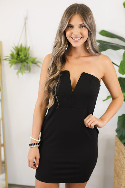 Vegas Nights Bodycon Dress: Black - ShopSpoiled