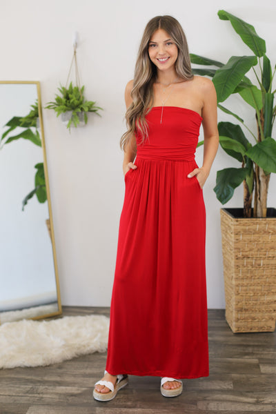 Summer Stroll Maxi: Red - Shop Spoiled Boutique