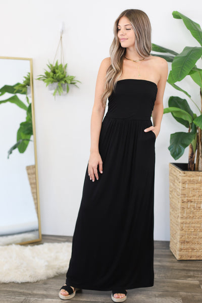 Summer Stroll Maxi: Black - ShopSpoiled