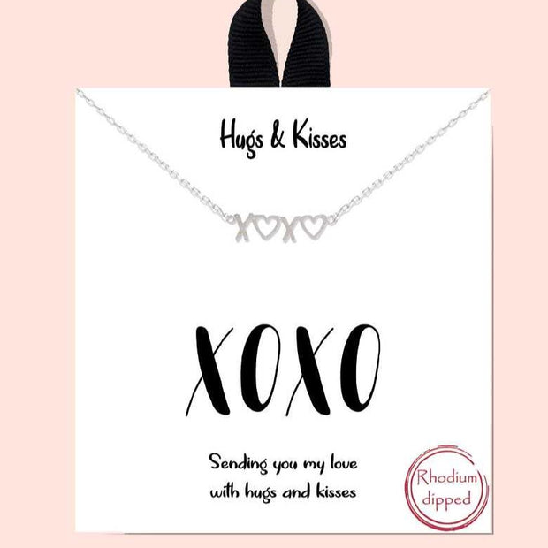 Hugs And Kisses Necklace - Shop Spoiled Boutique