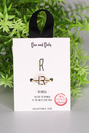 One And Only Initial Rings - ShopSpoiled
