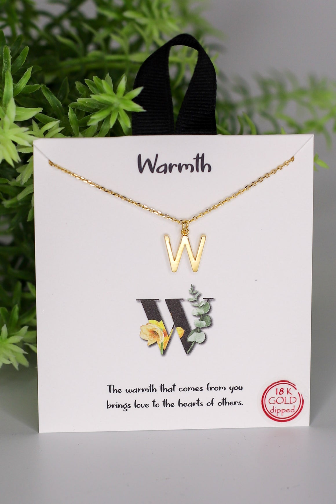 W: Warmth Initial Necklace - ShopSpoiled
