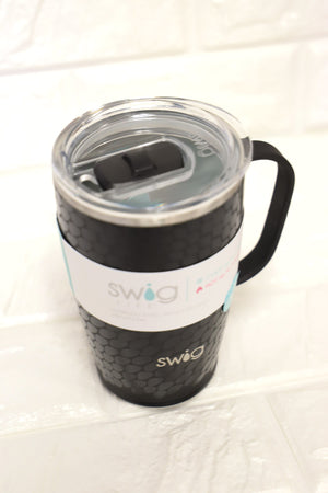 Black Glass 18oz Mug - ShopSpoiled