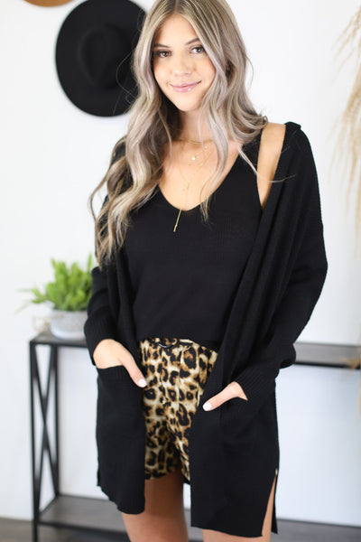 Days Like These Cardigan: Black - Shop Spoiled Boutique