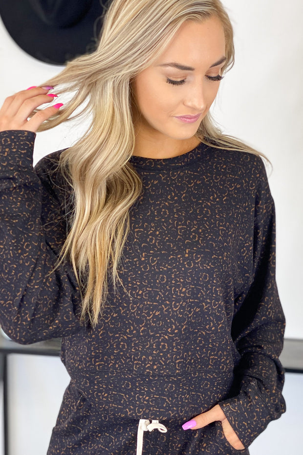 Cozy Up Leopard Pullover - Shop Spoiled Boutique